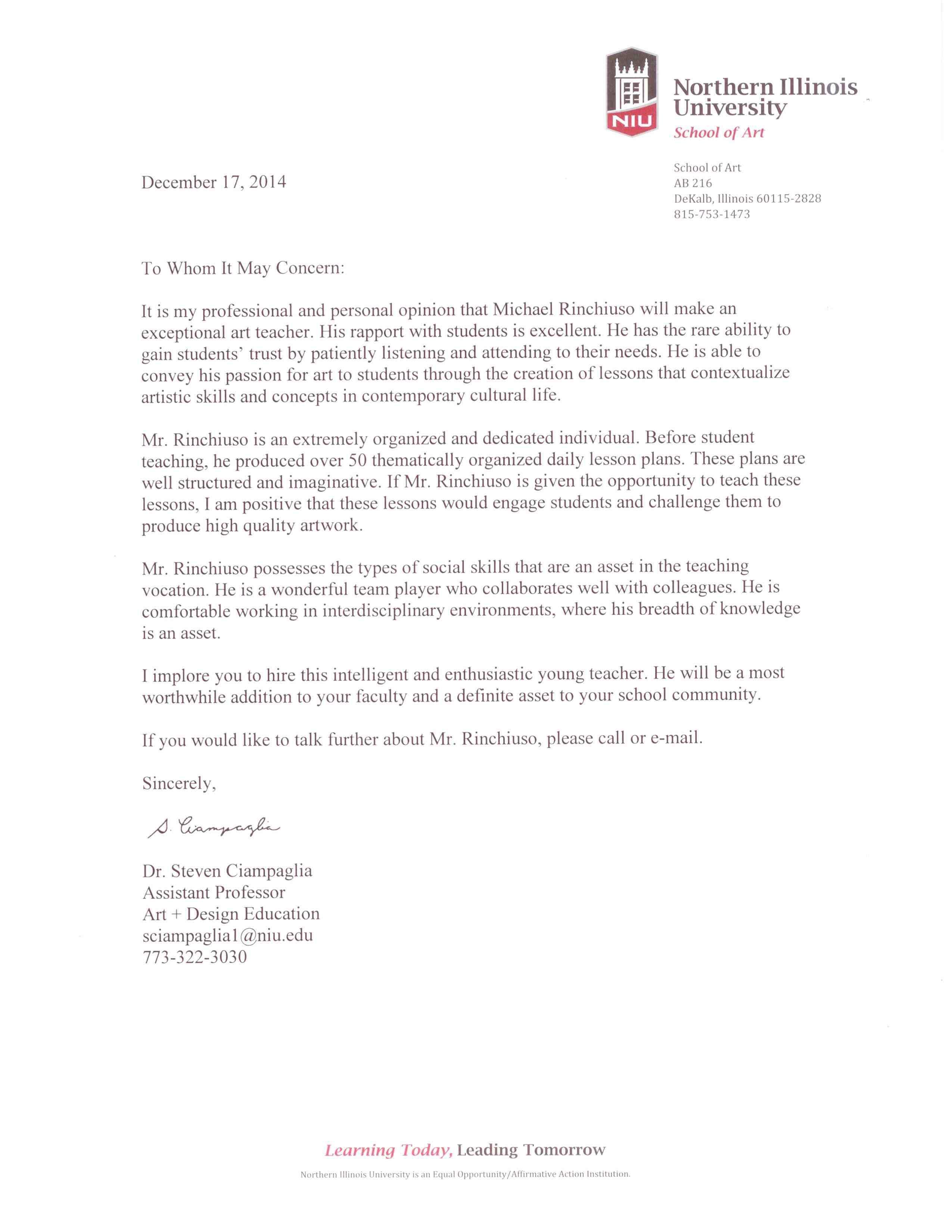 letters of recommendation  u2013 michael ross rinchiuso